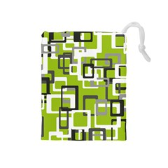 Pattern Abstract Form Four Corner Drawstring Pouches (medium)