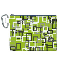 Pattern Abstract Form Four Corner Canvas Cosmetic Bag (xl) by Nexatart