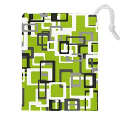 Pattern Abstract Form Four Corner Drawstring Pouches (xxl) by Nexatart
