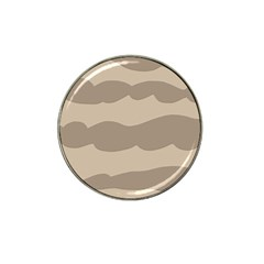 Pattern Wave Beige Brown Hat Clip Ball Marker (4 Pack) by Nexatart