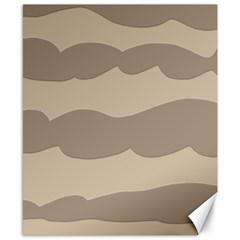 Pattern Wave Beige Brown Canvas 8  X 10  by Nexatart