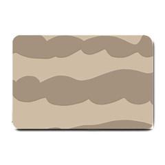 Pattern Wave Beige Brown Small Doormat  by Nexatart
