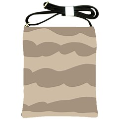Pattern Wave Beige Brown Shoulder Sling Bags by Nexatart
