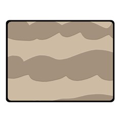 Pattern Wave Beige Brown Fleece Blanket (small) by Nexatart