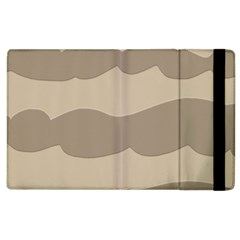 Pattern Wave Beige Brown Apple Ipad 3/4 Flip Case by Nexatart