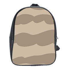 Pattern Wave Beige Brown School Bags (xl)  by Nexatart