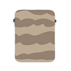 Pattern Wave Beige Brown Apple Ipad 2/3/4 Protective Soft Cases by Nexatart