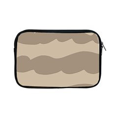 Pattern Wave Beige Brown Apple Ipad Mini Zipper Cases by Nexatart