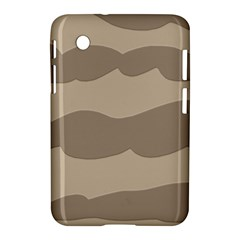 Pattern Wave Beige Brown Samsung Galaxy Tab 2 (7 ) P3100 Hardshell Case