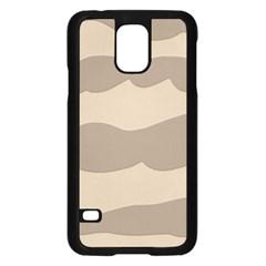 Pattern Wave Beige Brown Samsung Galaxy S5 Case (black)
