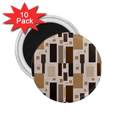 Pattern Wallpaper Patterns Abstract 2 25  Magnets (10 Pack)  by Nexatart