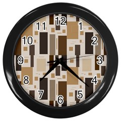 Pattern Wallpaper Patterns Abstract Wall Clocks (black)