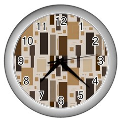 Pattern Wallpaper Patterns Abstract Wall Clocks (silver)  by Nexatart