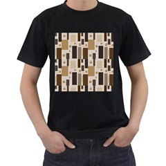 Pattern Wallpaper Patterns Abstract Men s T Shirt (black) (two Sided)