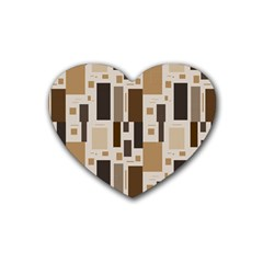 Pattern Wallpaper Patterns Abstract Rubber Coaster (heart)