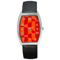 Background Texture Pattern Colorful Barrel Style Metal Watch by Nexatart