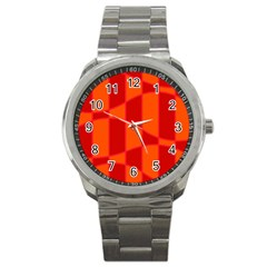 Background Texture Pattern Colorful Sport Metal Watch by Nexatart