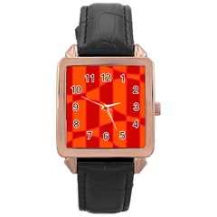 Background Texture Pattern Colorful Rose Gold Leather Watch  by Nexatart