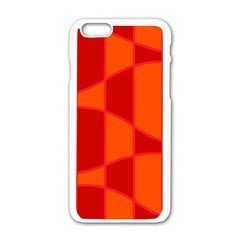 Background Texture Pattern Colorful Apple Iphone 6/6s White Enamel Case