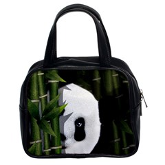 Panda Classic Handbags (2 Sides) by Valentinaart