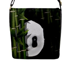 Panda Flap Messenger Bag (l)  by Valentinaart