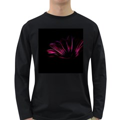 Pattern Design Abstract Background Long Sleeve Dark T Shirts