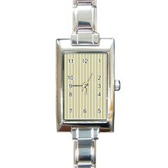 Pattern Background Green Lines Rectangle Italian Charm Watch