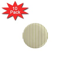 Pattern Background Green Lines 1  Mini Magnet (10 Pack)