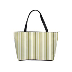 Pattern Background Green Lines Shoulder Handbags by Nexatart