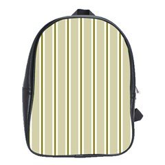 Pattern Background Green Lines School Bags(large)  by Nexatart