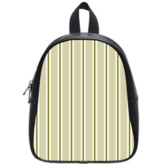 Pattern Background Green Lines School Bags (small)  by Nexatart