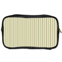 Pattern Background Green Lines Toiletries Bags 2 Side by Nexatart
