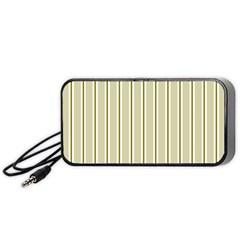 Pattern Background Green Lines Portable Speaker (black) by Nexatart