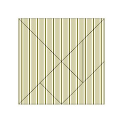 Pattern Background Green Lines Acrylic Tangram Puzzle (4  X 4 )