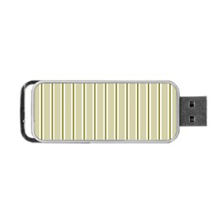 Pattern Background Green Lines Portable Usb Flash (one Side)