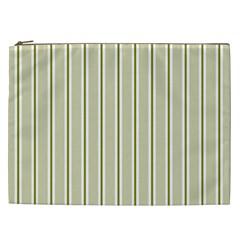 Pattern Background Green Lines Cosmetic Bag (xxl)