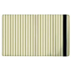 Pattern Background Green Lines Apple Ipad 2 Flip Case by Nexatart