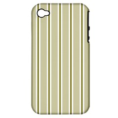 Pattern Background Green Lines Apple Iphone 4/4s Hardshell Case (pc+silicone)