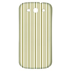 Pattern Background Green Lines Samsung Galaxy S3 S Iii Classic Hardshell Back Case by Nexatart
