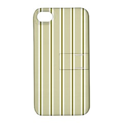 Pattern Background Green Lines Apple Iphone 4/4s Hardshell Case With Stand