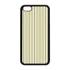 Pattern Background Green Lines Apple Iphone 5c Seamless Case (black) by Nexatart