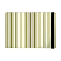Pattern Background Green Lines Ipad Mini 2 Flip Cases by Nexatart