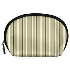 Pattern Background Green Lines Accessory Pouches (large)  by Nexatart