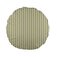 Pattern Background Green Lines Standard 15  Premium Flano Round Cushions