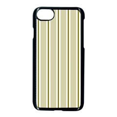 Pattern Background Green Lines Apple Iphone 7 Seamless Case (black)