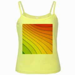 Abstract Pattern Lines Wave Yellow Spaghetti Tank