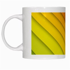 Abstract Pattern Lines Wave White Mugs by Nexatart