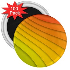 Abstract Pattern Lines Wave 3  Magnets (100 Pack) by Nexatart