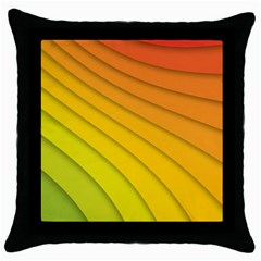 Abstract Pattern Lines Wave Throw Pillow Case (black)