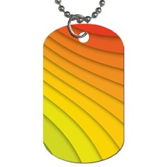 Abstract Pattern Lines Wave Dog Tag (two Sides)